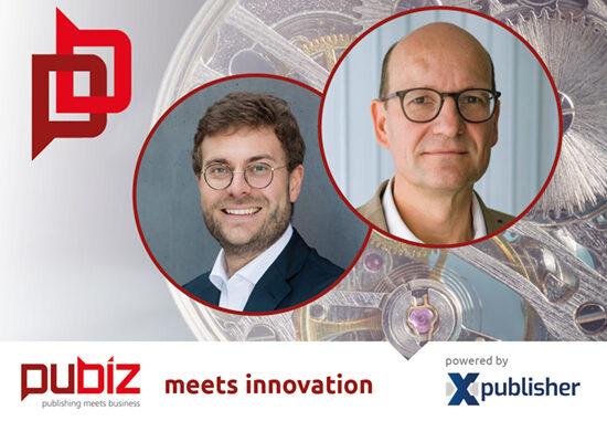 """Ehrhardt F. Heinold trifft Christopher Buschow in der Reihe """"Pubiz meets Innovation""""."""